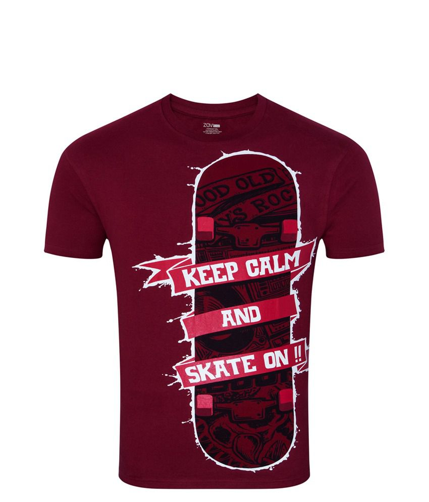 Zovi Skate On Crimson Red Graphic T-shirt