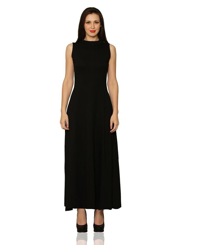 b6e284a757f Miss Chase Black Cotton Long Tunic Dresses For Women Sleeveless Turtle Neck  Casual Wear - Buy Miss Chase Black Cotton Long Tunic Dresses For Women ...