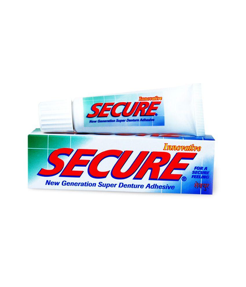 Secure Denture Adhesive >> Secure Denture Adhesive Cream 20 Gms Plus Secure Denture 32 Tablets Box