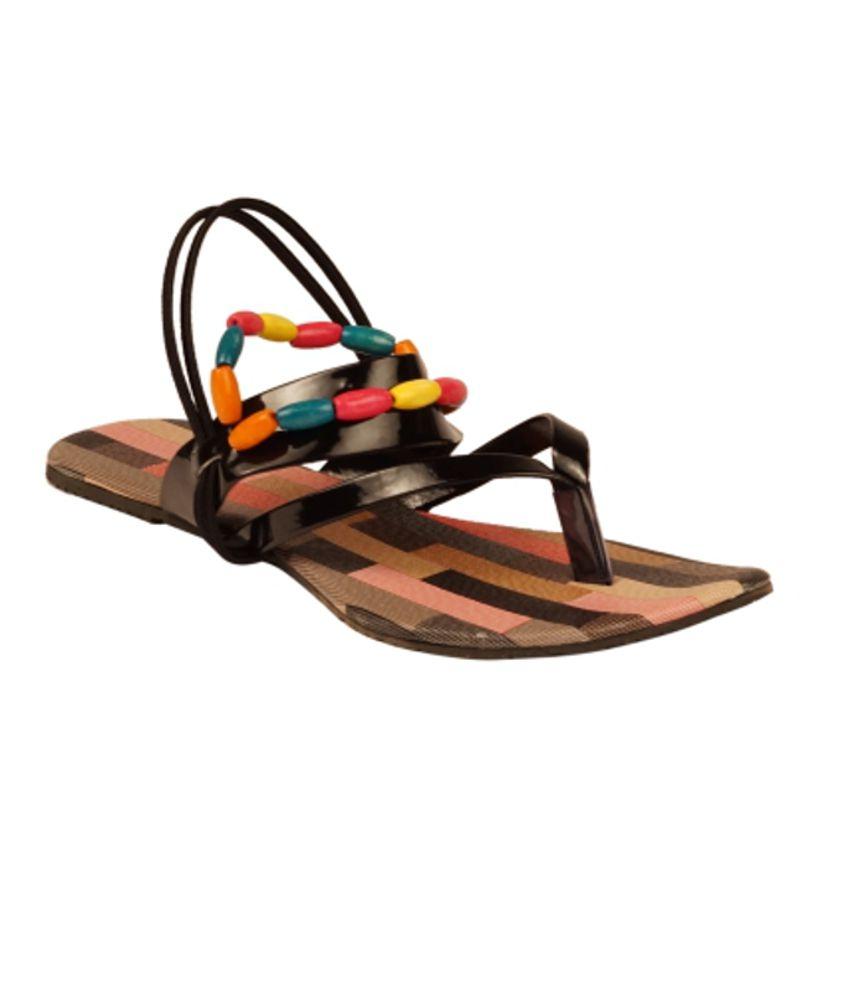 Zachho Black Sandal