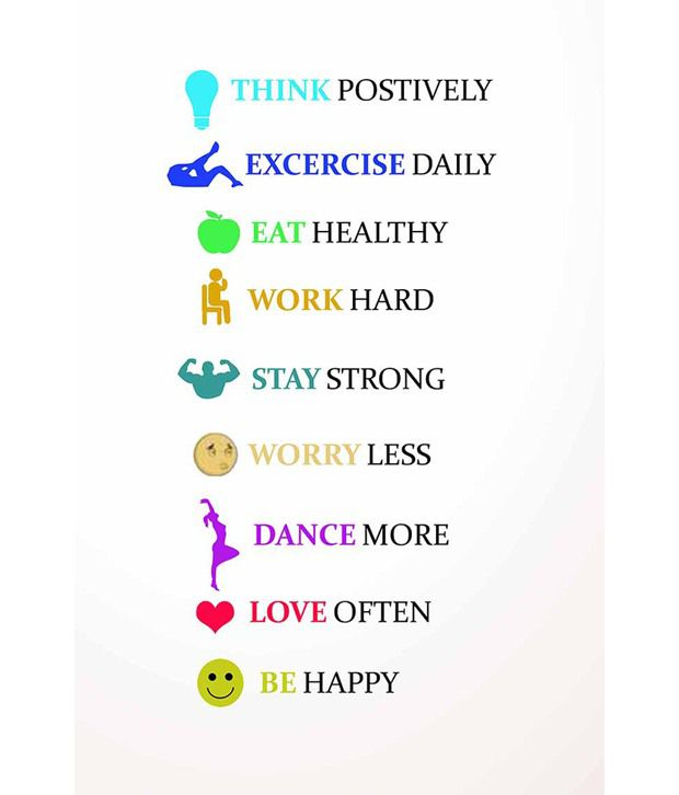 Painting mantra healthy living quotes poster buy painting for Happy color spray paint price