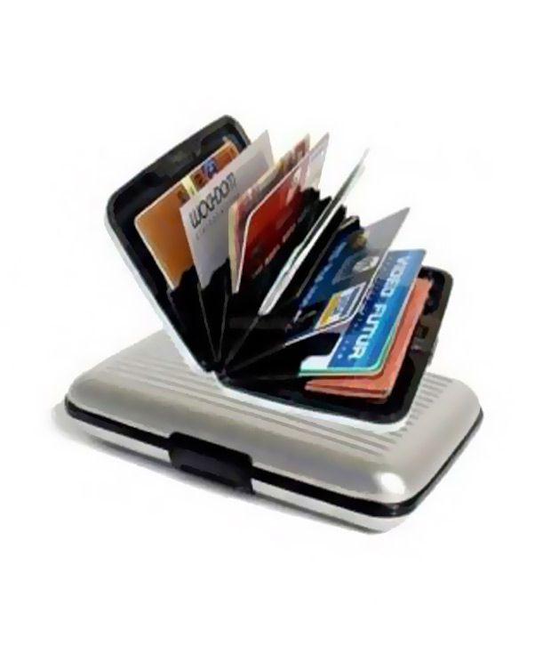 Aluma Security Credit Card Wallet Silver: Buy Online At