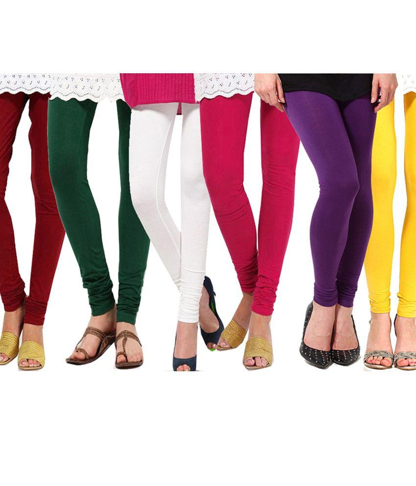 Famaya Pack Of 6 Cotton Lycra Leggings