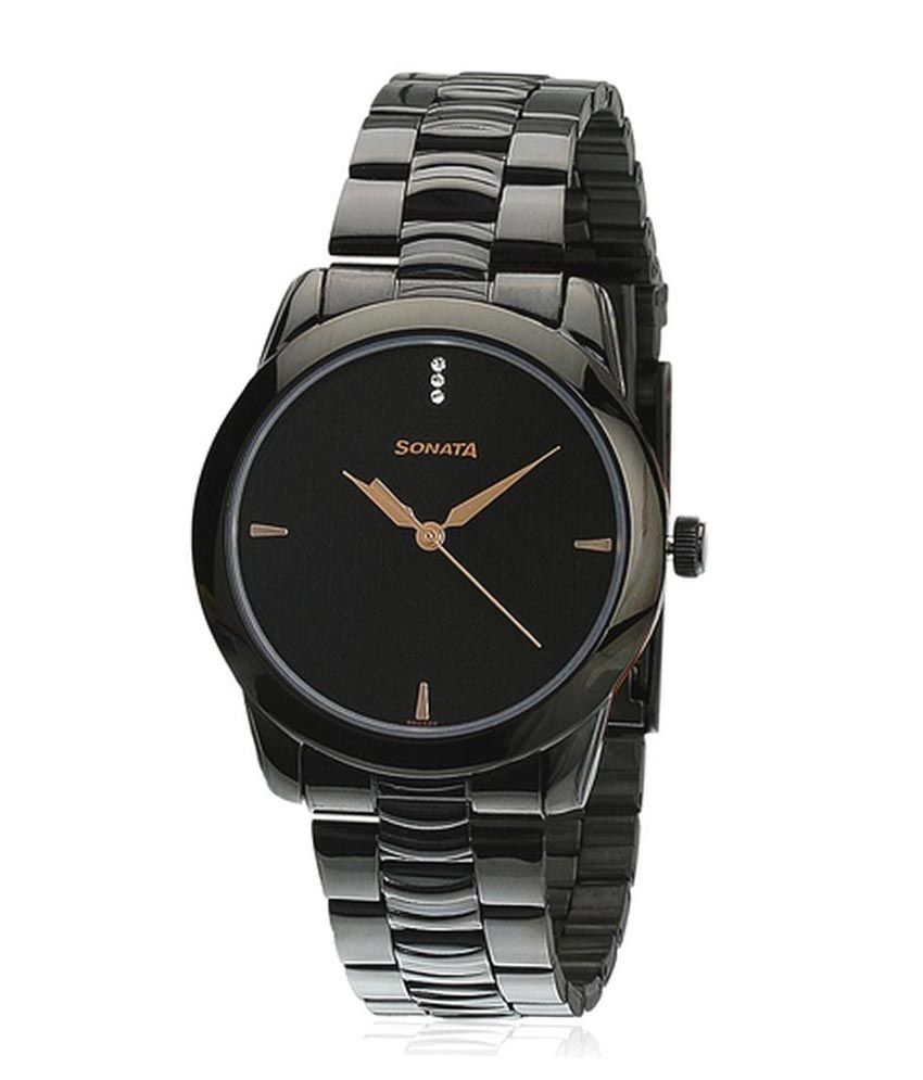 Sonata nf7924nm01 men watch buy sonata nf7924nm01 men watch online at best prices in india on for Watches for girls