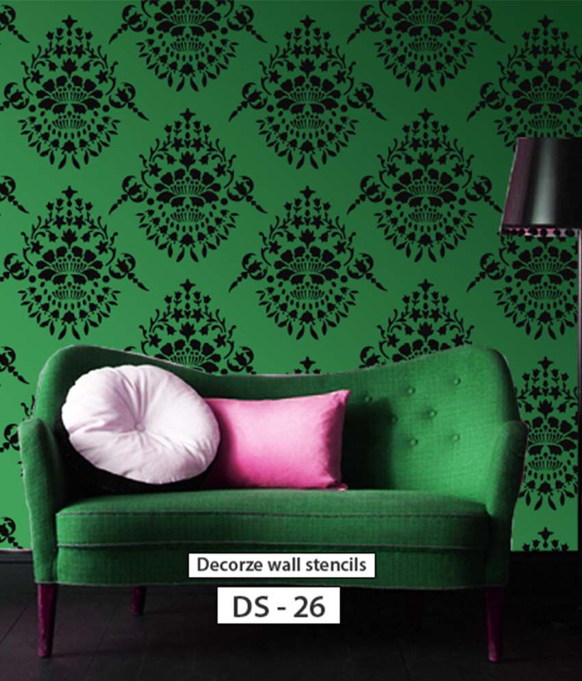 Buy decorze damask stencil online at low price in india snapdeal decorze damask stencil amipublicfo Gallery