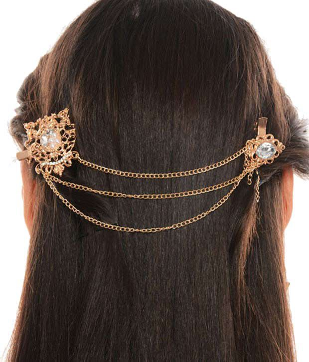 Cinderella Fashion Jewelry  Gold Diamante Hair Band