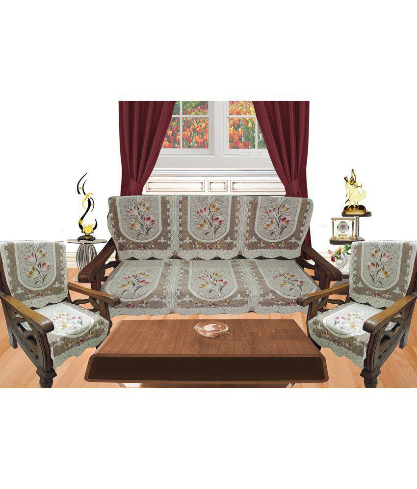 Decor bazaar polyester net multi color floral sofa cover for Multi floral sofa covers