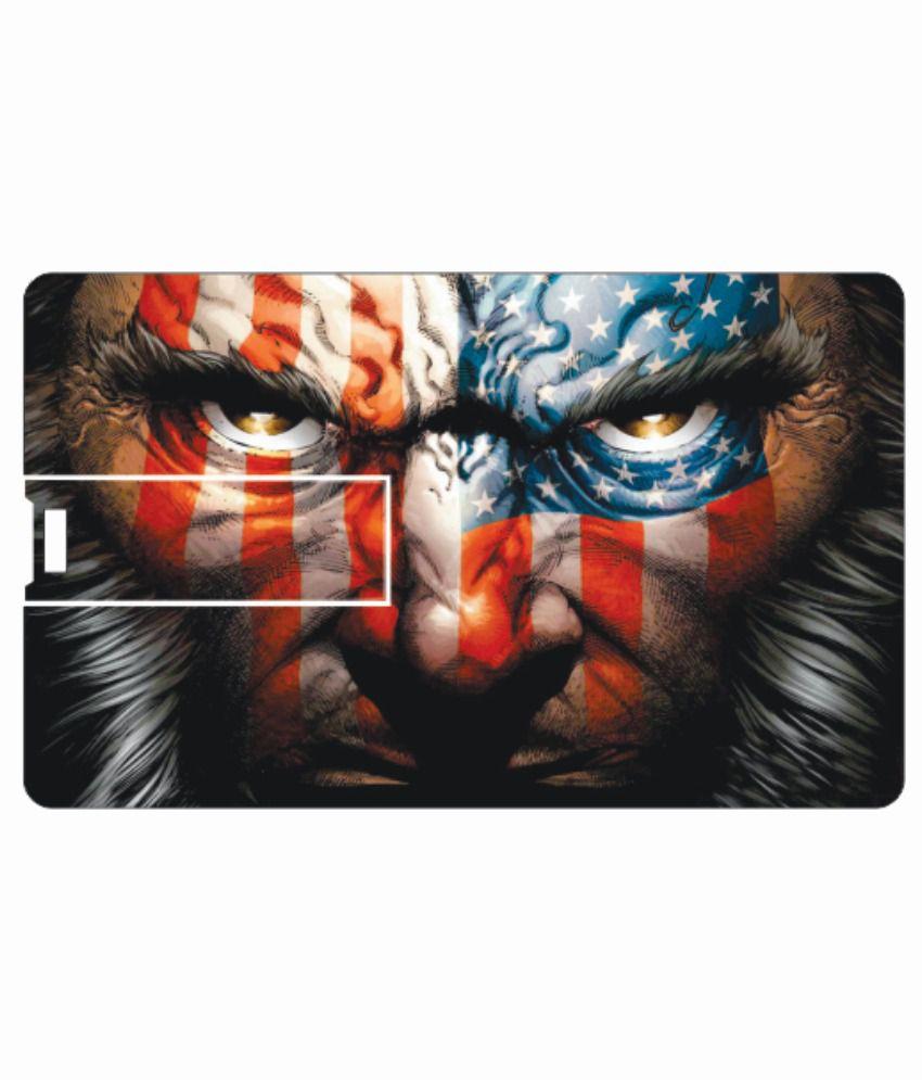 Printland Face 4GB Card 4 GB Pen DrivesMulticolor
