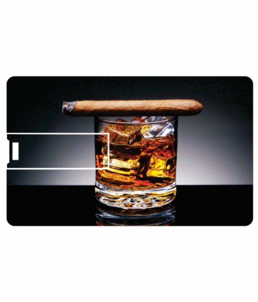 Printland cigar glass 4GB Card 4 GB Pen DrivesMulticolor
