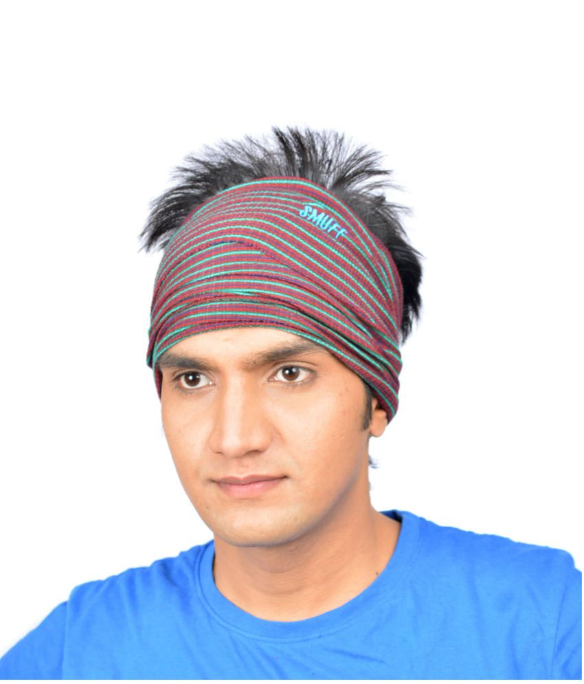 SmuffWear Multi-Coloured Cotton Headwrap