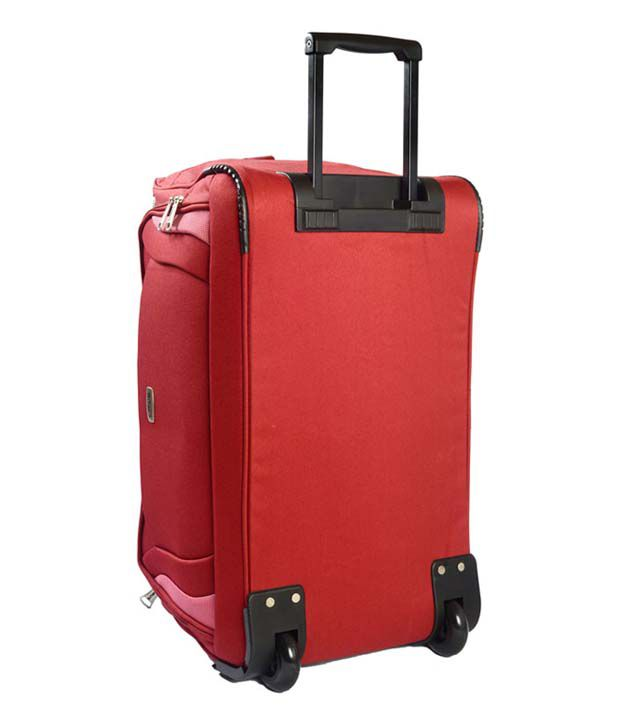 b32abe57bb ... Timus Morocco 55 Cm Red 2 Wheel Duffle Trolley For Travel (Cabin Luggage)  ...