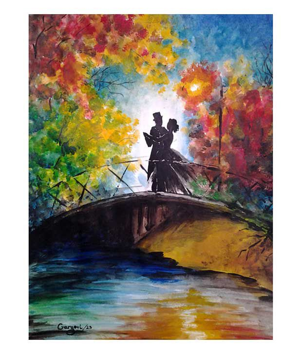 Akira Textured Abstract Couple Painting
