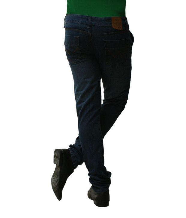 Ben Carter Men's Dark Poison Blue Slim Fit Denim Jeans (wp)