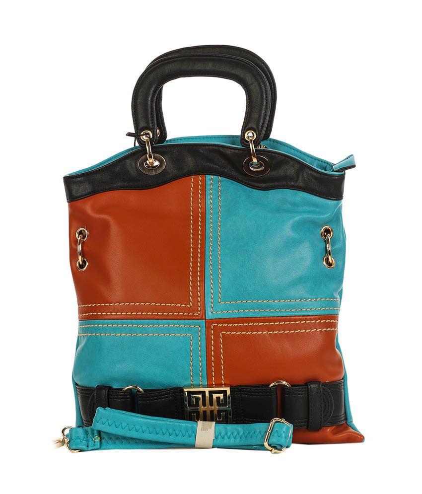 Eleegance 300-FIROJI Blue Satchel Bags