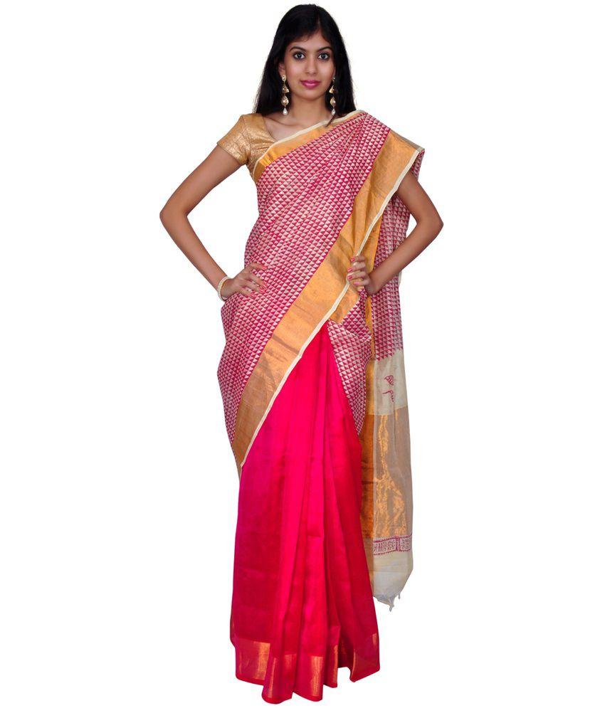 d2206ecf6544b Urvashi Multicolor Printed Cotton Silk Saree With Blouse Piece - Buy  Urvashi Multicolor Printed Cotton Silk Saree With Blouse Piece Online at  Low Price ...