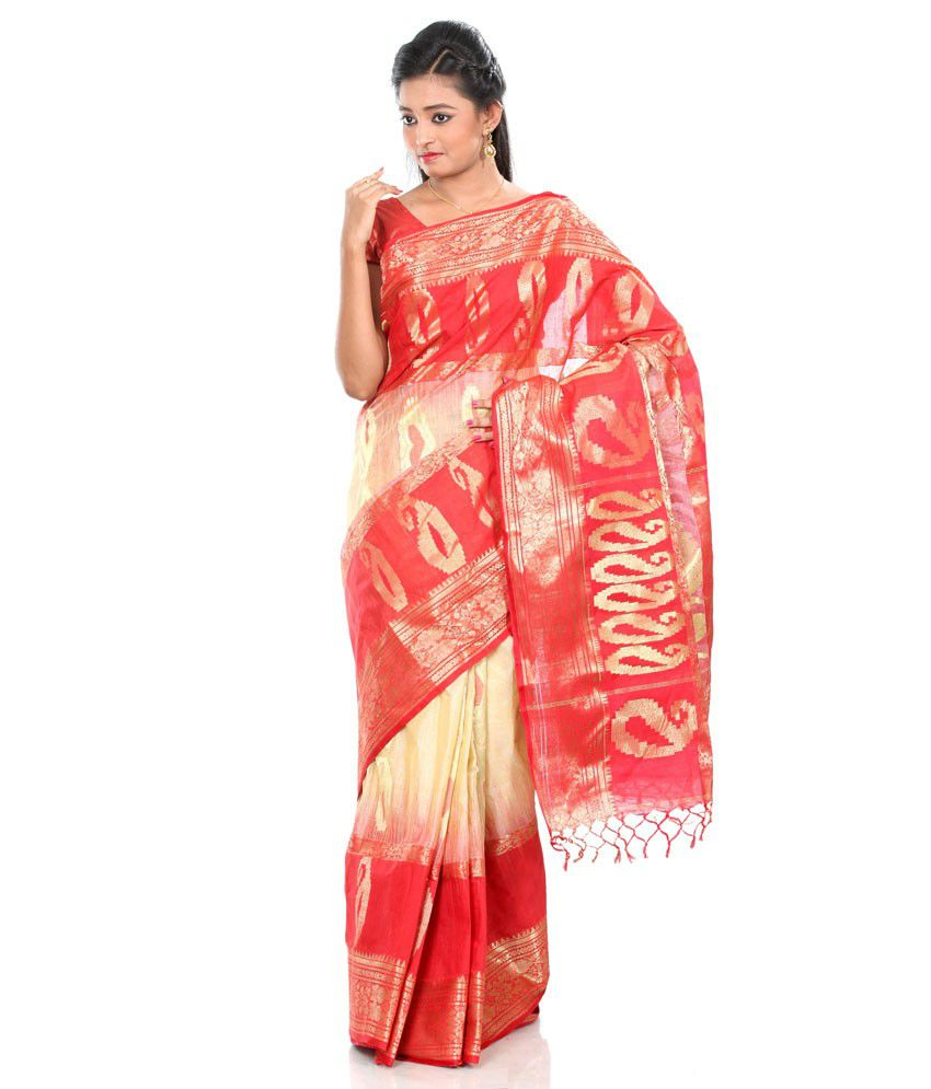 80f7b8e824 B3Fashions Beige Tussar Silk Bengal Tant Saree - Buy B3Fashions Beige  Tussar Silk Bengal Tant Saree Online at Low Price - Snapdeal.com