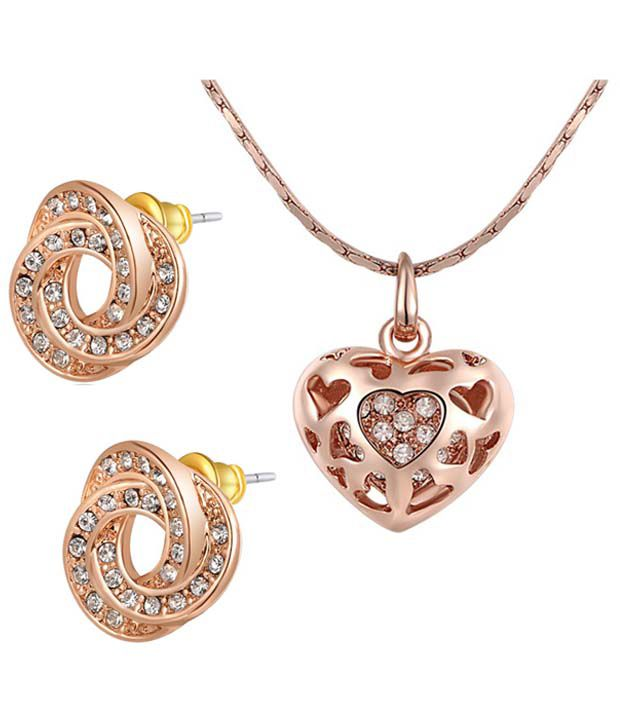 Gold plated swiss zircon 18k heart shaped pendant set by kaizer gold plated swiss zircon 18k heart shaped pendant set by kaizer jewelry aloadofball Images
