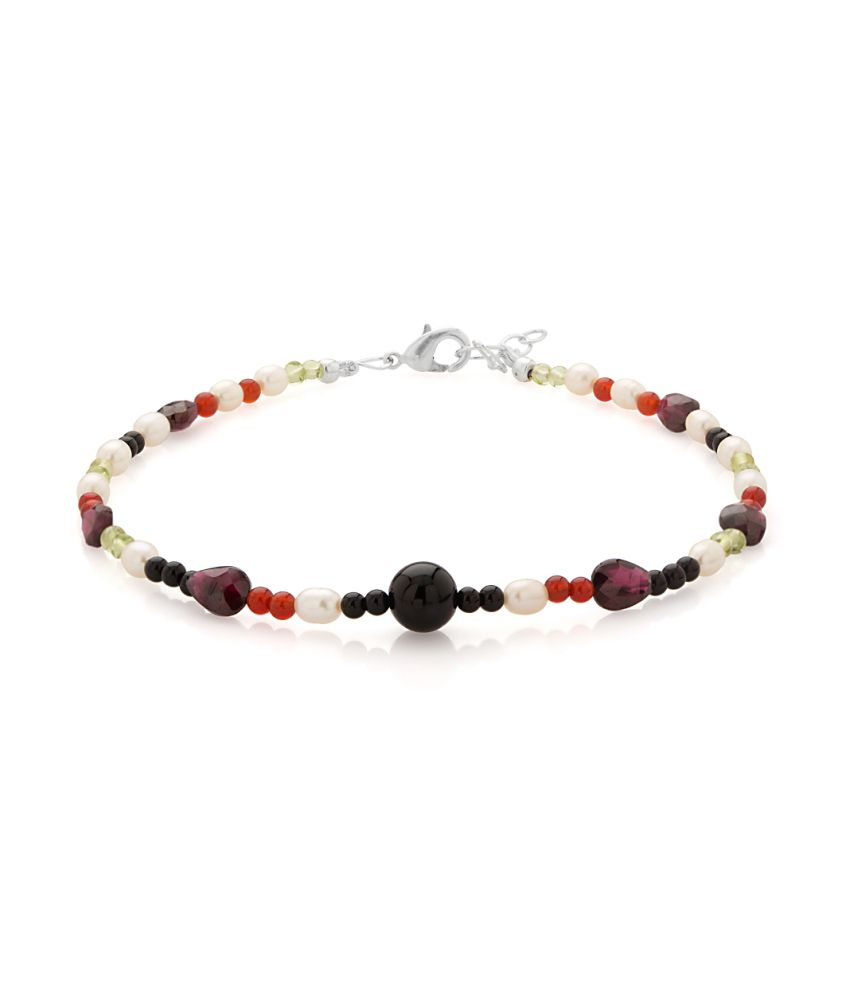Voylla Single Beaded Anklet Featuring Pearls