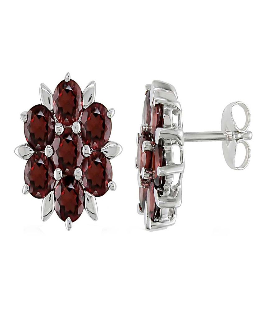 Kiara Swarovski Elements Traditional Sterling Silver Earrings