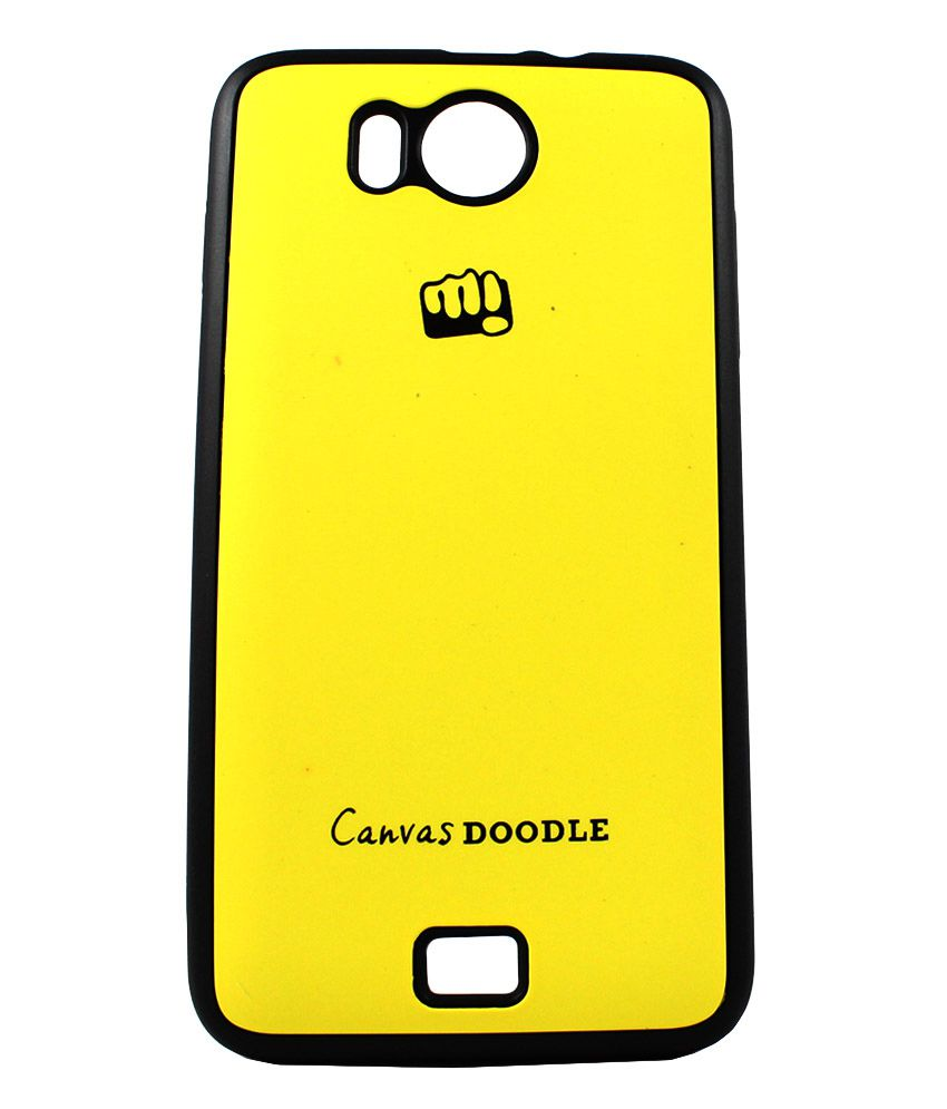 super popular 0d8ca 8ae19 Manro Micromax Canvas Doodle A111 Backcover Back Case Cover - Yellow ...