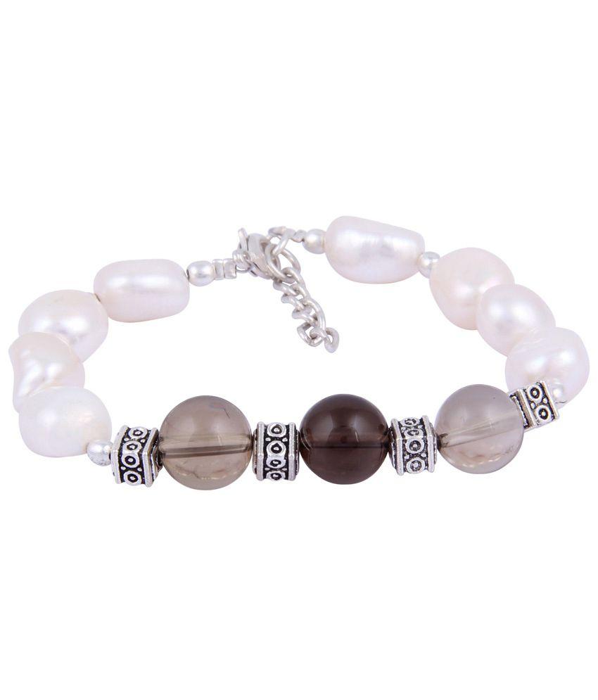 Pearlz Ocean White Beaded Bracelet