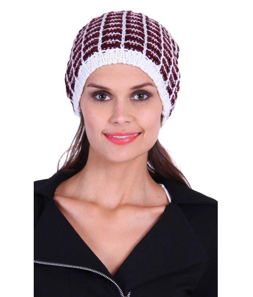 The Gud Look Maroon Woollen Beanies Cap Women  Buy Online at Low Price in  India - Snapdeal a8b5701cc9c