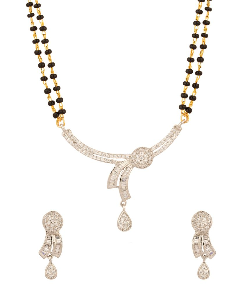 Voylla Endearing Mangalsutra Set Adorned With Cz Stones