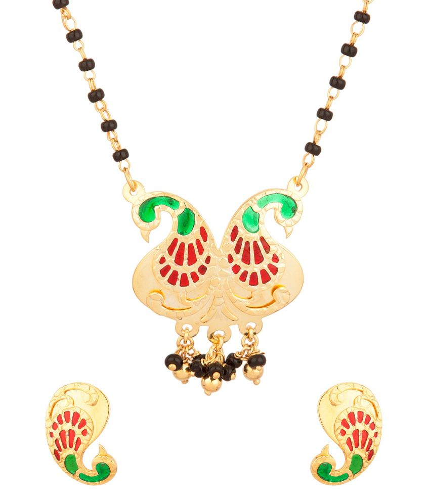 Voylla Mangalsutra Set Inspired With Peacock