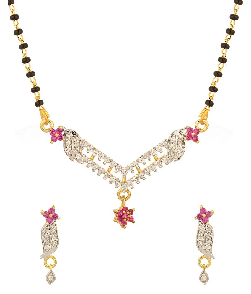 Voylla Tremendous Mangalsutra Set In Single Chain With Cz