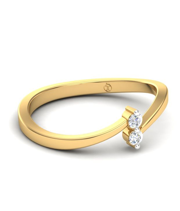 Theme Jewels Casual LR-0014, Certified Real Diamond & 14Kt Hallmarked Yellow Gold Ring