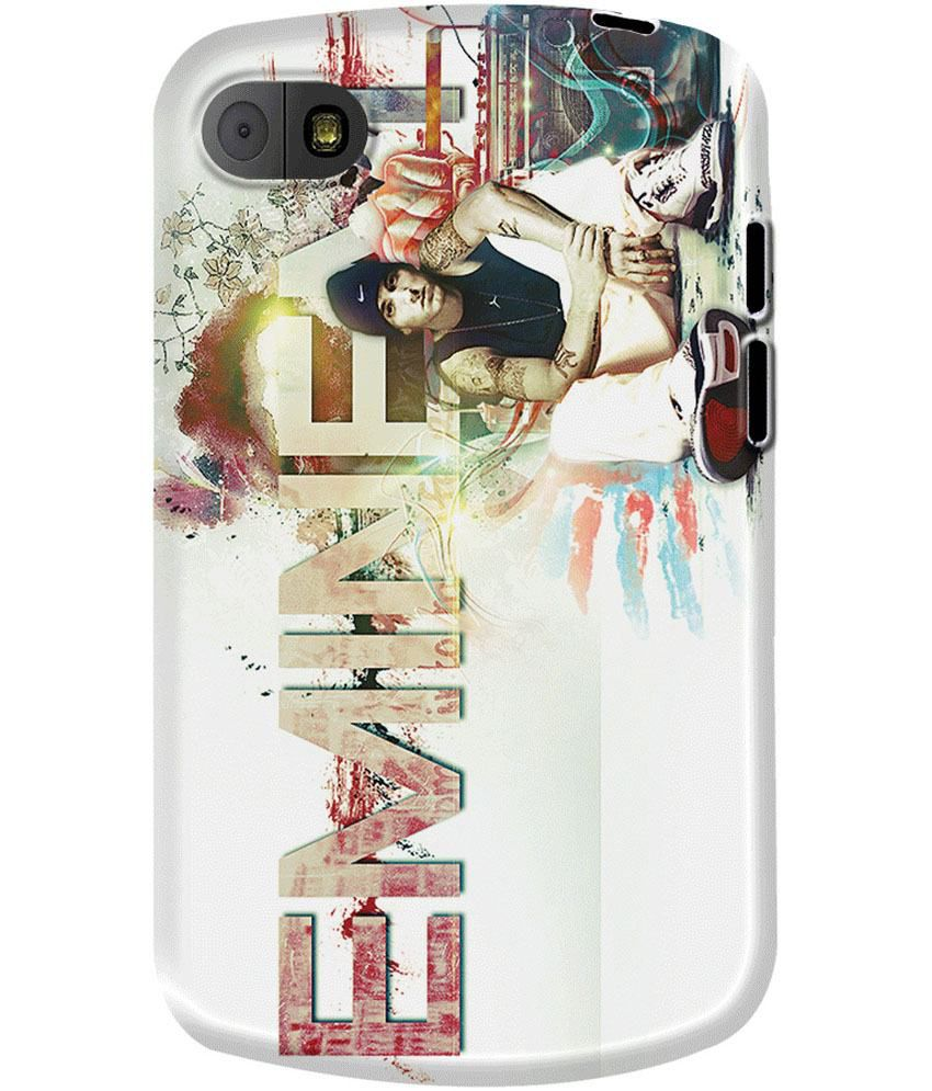 Dailyobjects Eminem Case For Blackberry Q10 White Printed Back
