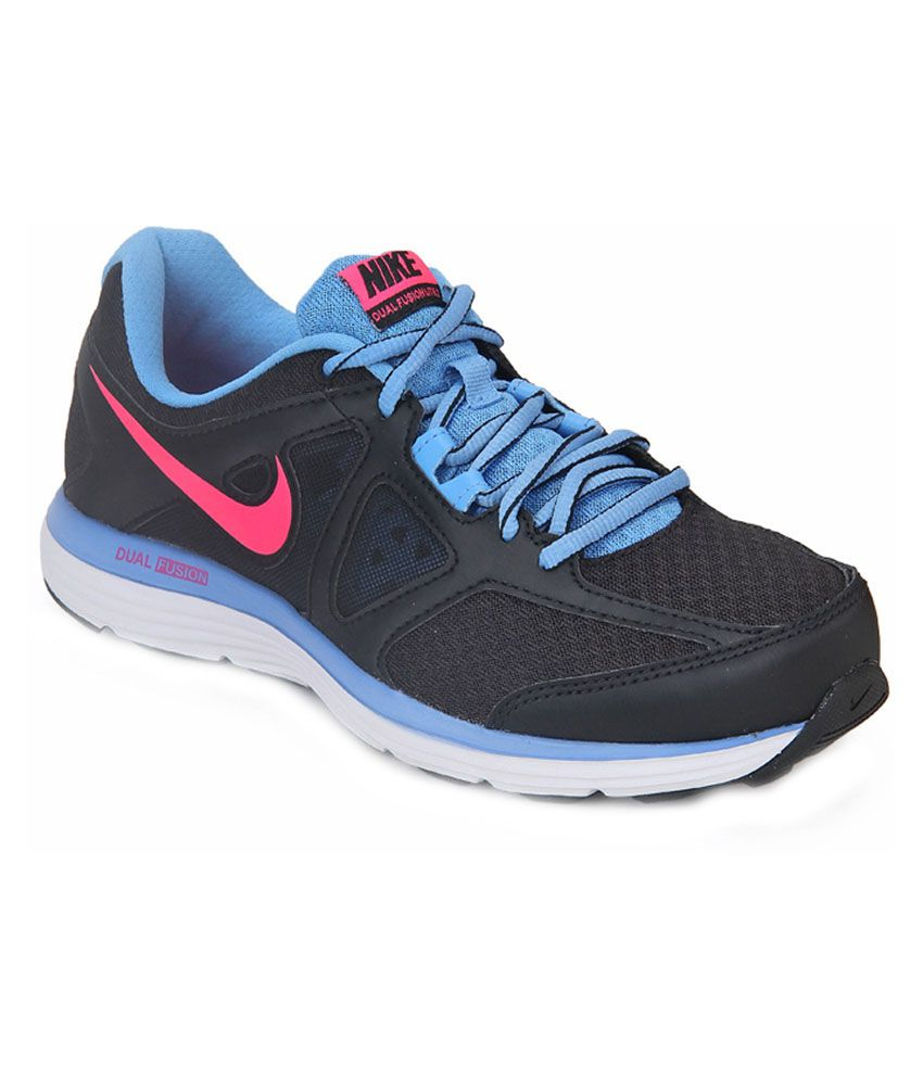 Nike Dual Fusion Lite 2 Msl Black Running Shoes