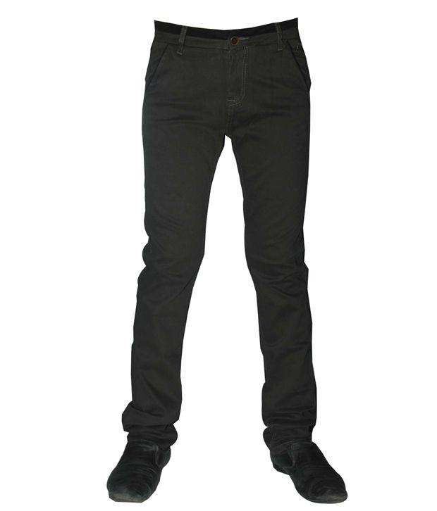 Rex Straut Green Slim Fit Jeans