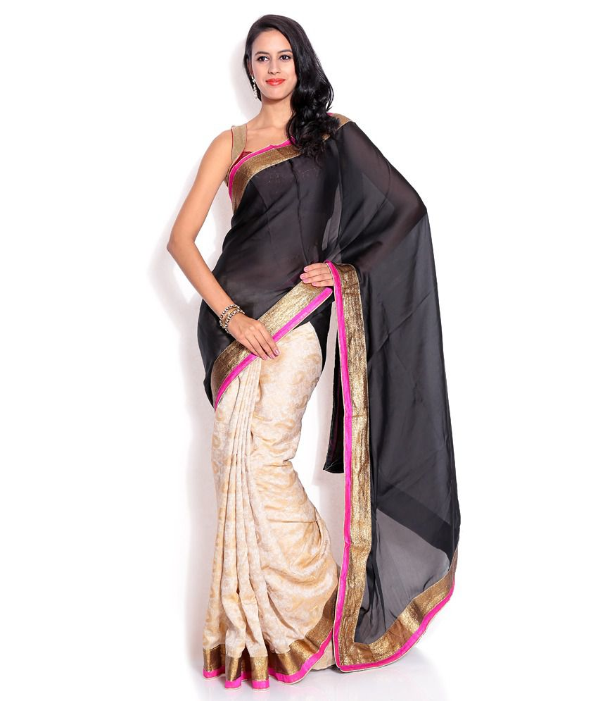 Silkbazar Multicoloured Chiffon Saree