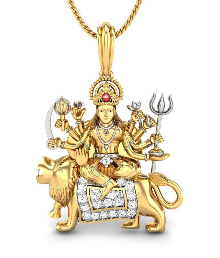 astro gems laboratory maa durga 24 kt gold plated pendant buy astro