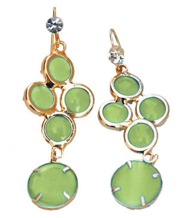 Maayra Superb Green College Designer Dangler Earrings