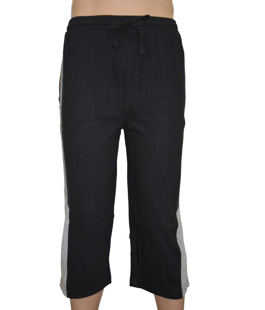 Macroman Nuovo Fashion Capris Black