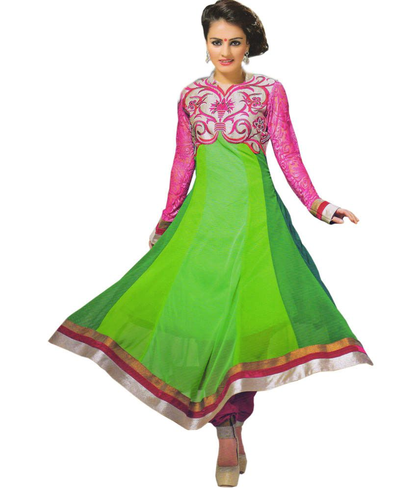e4b6c1850f ... Wear Semi Stitch Anarkali Dress Material - Buy Shiva Collections  Branded Party Wear Semi Stitch Anarkali Dress Material Online at Best Prices  in India ...