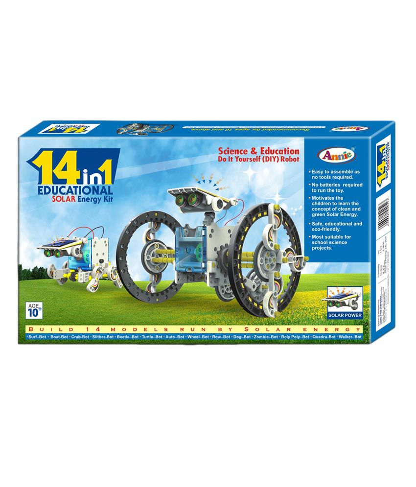 Annie 14-in-1 Educational Solar Robot Kit