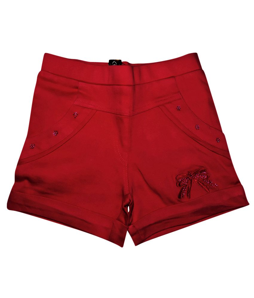 Ever Wear Satin Lycra Pink Shorts For Kids