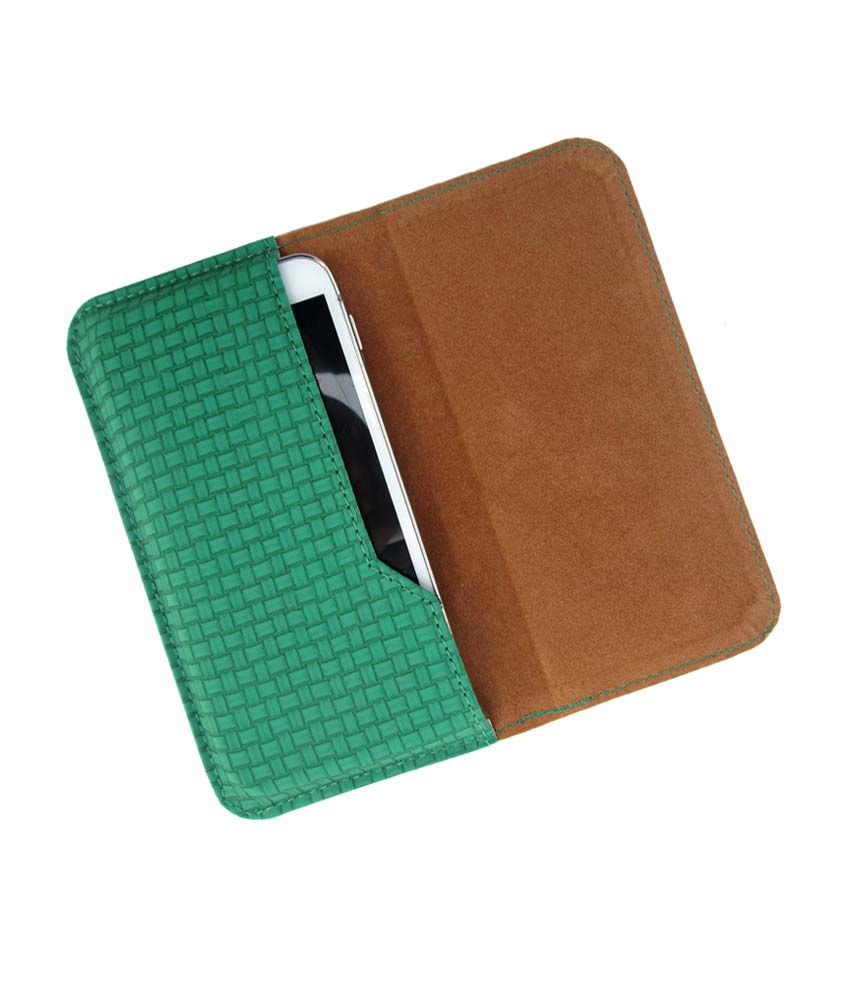 Ikitpit Pu Leather Flip Pouch Case Cover For Intex Cloud Z6