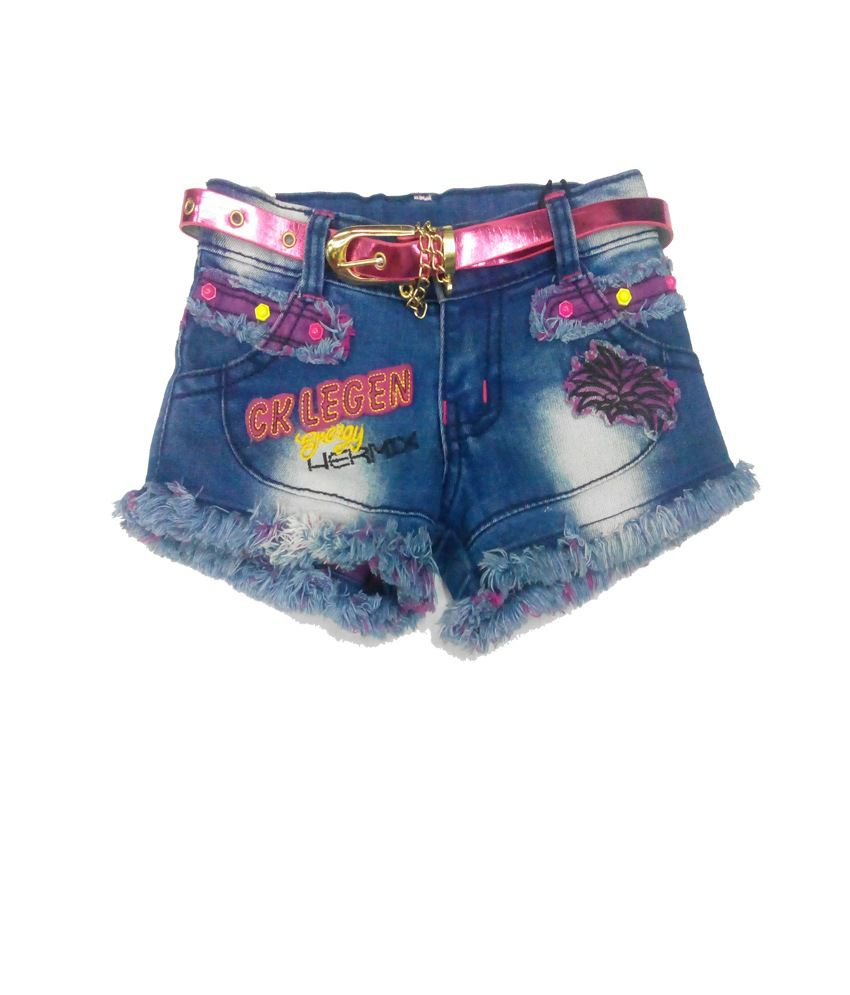 Piggy N Wiggy Blue Shorts For Girls