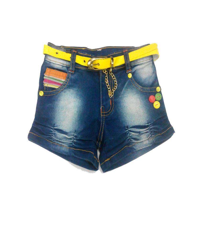 Piggy N Wiggy Blue Shorts For Girls