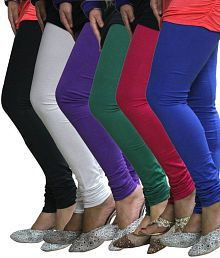Lycra Multi Color Cotton Leggings