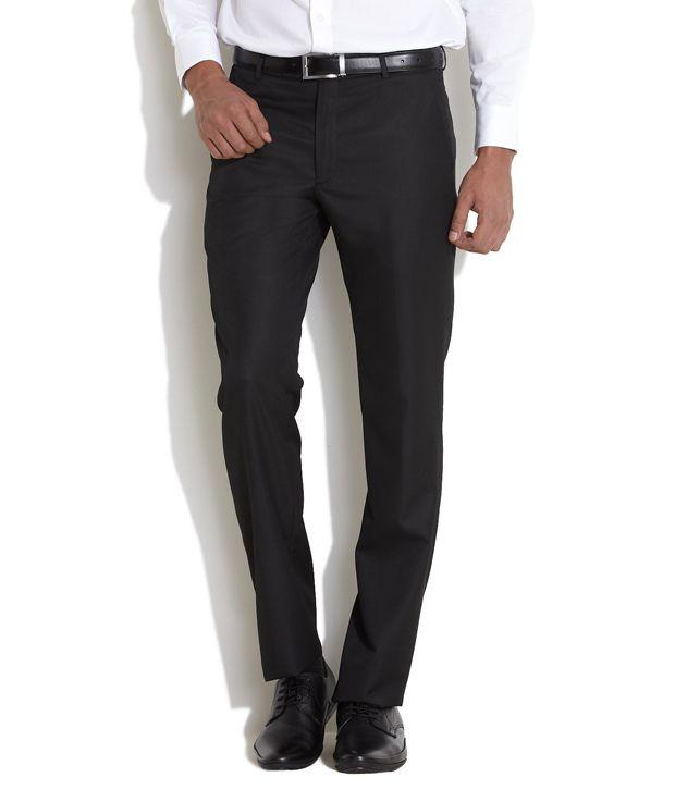 John Miller Black Cool & Classic Sleek Trousers