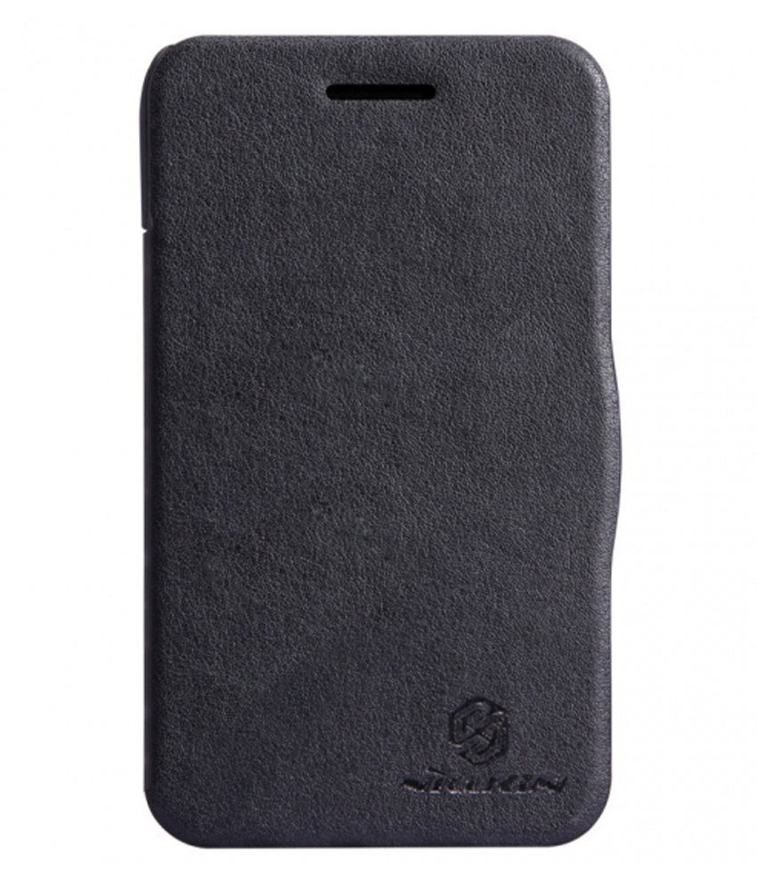 best service c1843 23d1b Nillkin Blackberry Q5 V Series Leather Flip Book Cover Case Black