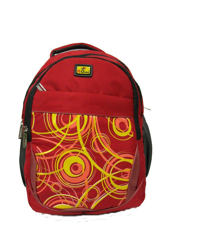R-dzire Red P.u. Water Resistant Backpack