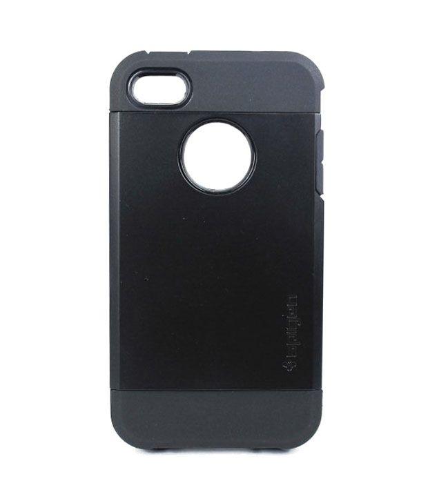 Wolf Accessories-spigen Sgptough Armor Back Case Cover For-appleiphone4s-black