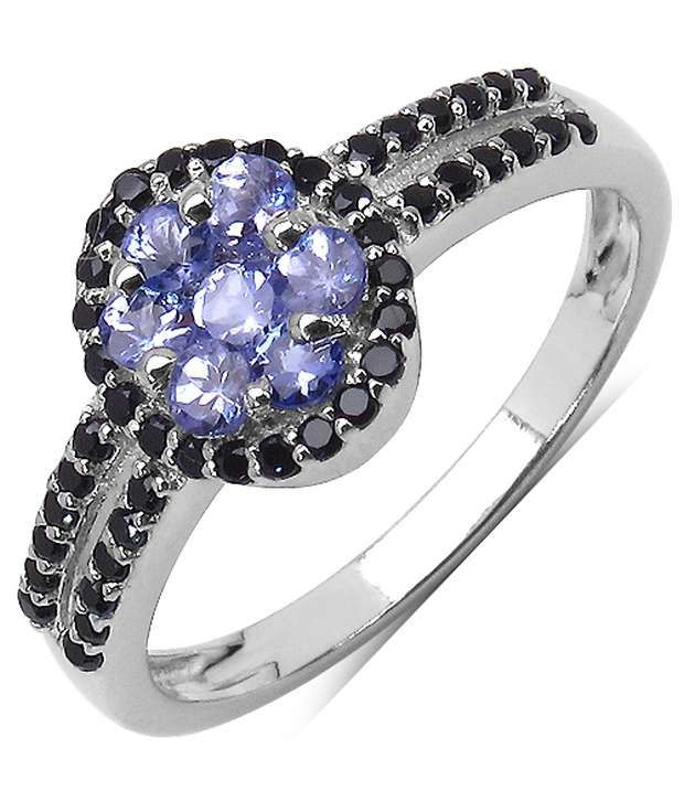 Tanzanite Buying Tanzanite: 0.63CTW Genuine Tanzanite & Black Spinel .925 Sterling
