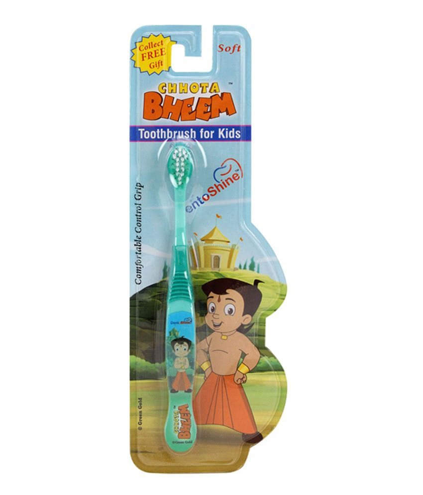 Dento Shine Toothbrush For Kids - Chhota Bheem (green)